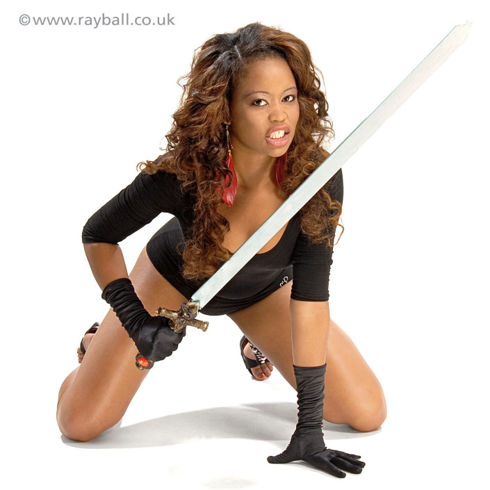 Tadwoth girl warrior at Epsom Photography Studio Surrey.