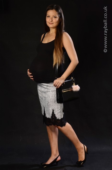 Pregnant Romanian girl from Ewell at Epsom Photography Studio Surrey.