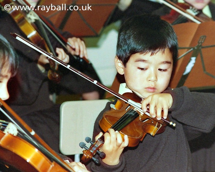 My beautiful picture of young violinist Purley, London by Epsom Photography..
