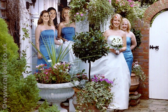 My beautiful picture of Tadworth bride bridesmaids and flowers by Epsom Photography Surrey.