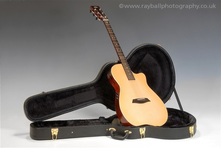 Weybridge guitar at Commercial Product Photographers Epsom Photography Surrey