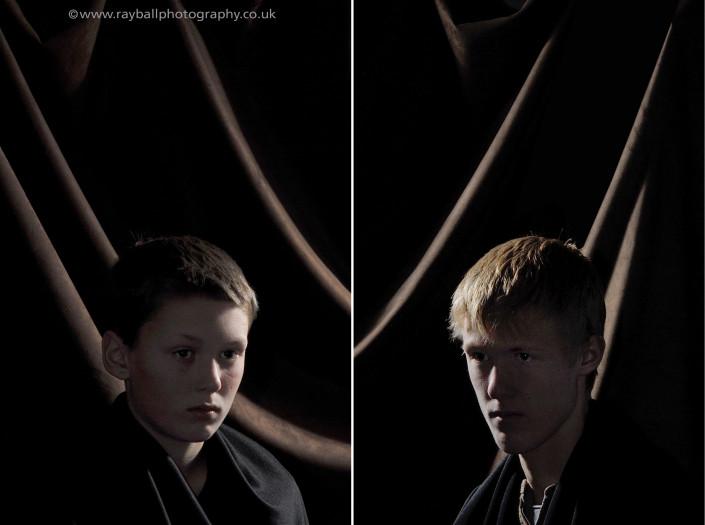 Portraits of Wandsworth brothers at Epsom Photography Studio Surrey.