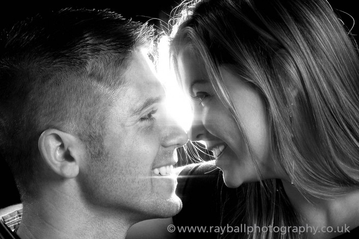 Looking like lovers, they're actually a devoted brother and sister from Oxshot in Surrey. We photographed both their weddings, and their family portraits atr Epsom Photography Studio Surrey