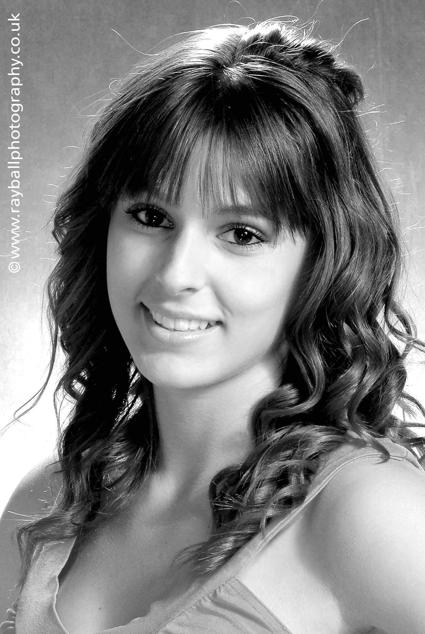 Portrait of beautiful young Chessington dancer at Epsom Photography Studio Surrey.