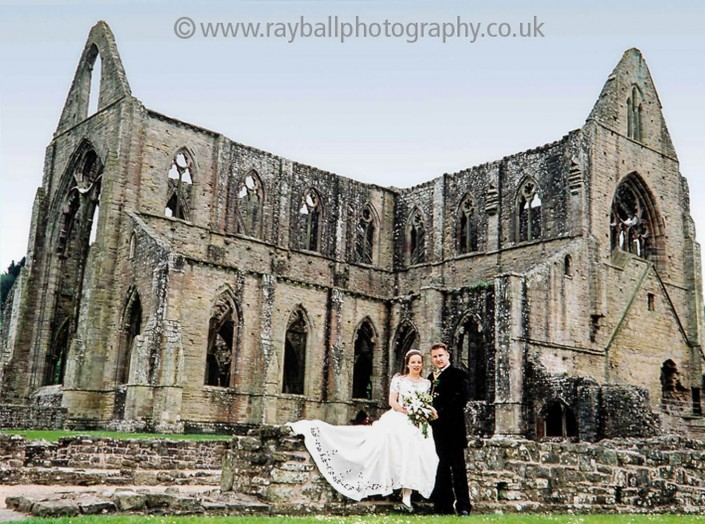 Wedding couple from Farnham, Surrey at Tintern Abbey, Monmouthshire, Wales by Epsom Photography.