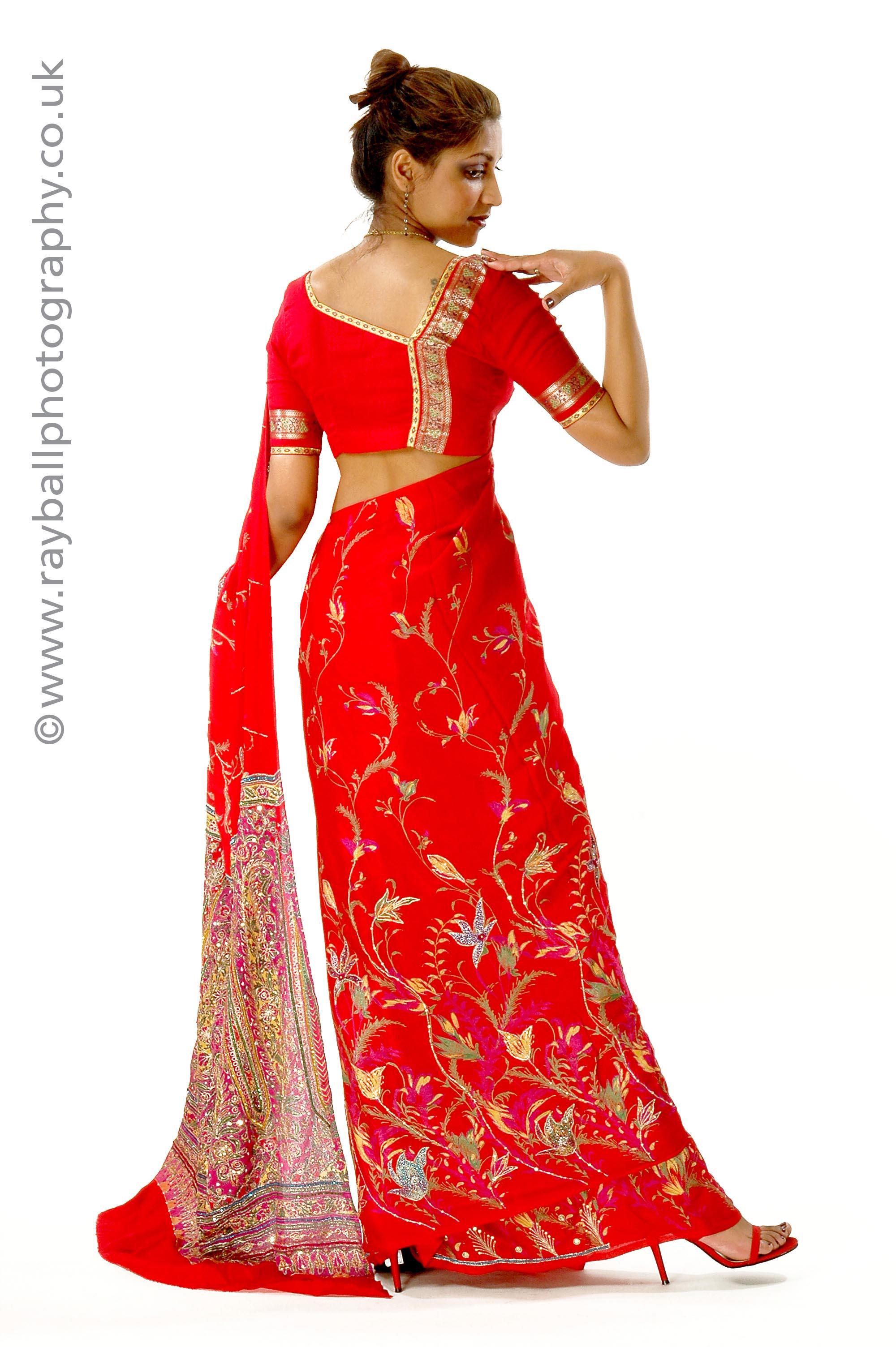 Ewell model wearing sari at Epsom Photography Studio.