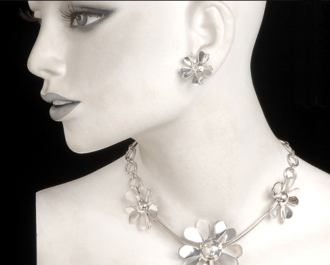 Banstead necklace and earrings