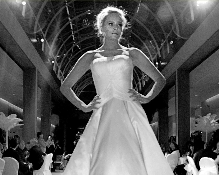 Oxshott model at Putney fashion show by Epsom Photography.