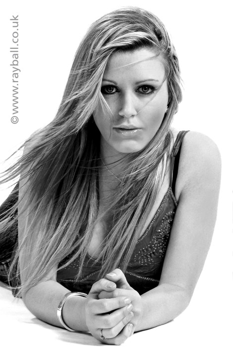 Glamorous Burgh Heath model at Epsom Photography Studio Surrey.