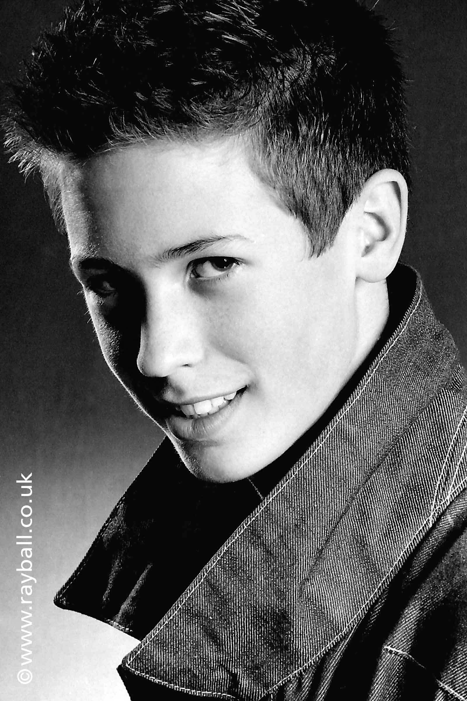Beautiful picture of young guy from Stoneleigh at Epsom Photography Studio Surrey.