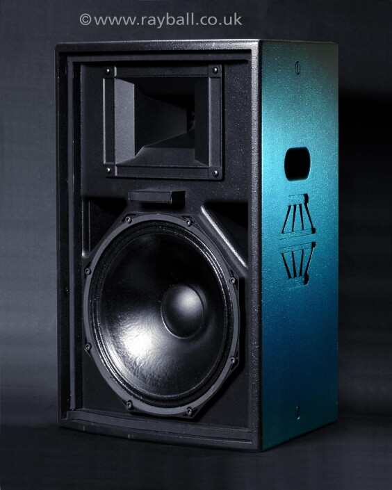 Product shot of loud speaker from 'Gasoline' Dorking, Surrey""
