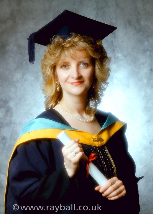 Graduation portrait of Banstead Student - picture by Epsom Photography Studio Surrey.