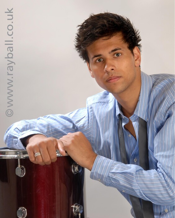 Portrait of Belmont drummer at Epsom Photography Studio Surrey