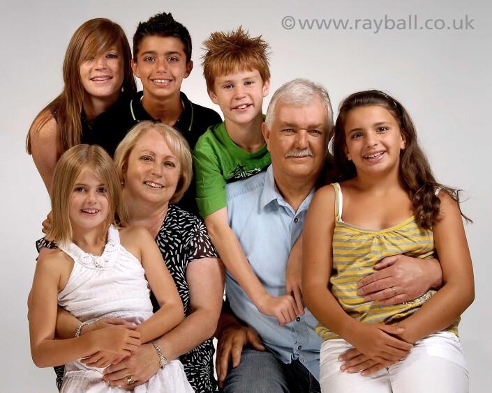 Portrait of Banstead family at Epsom Photography Studio Surrey.