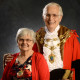 Portrait of the Mayor of Epsom and Ewell and his wife.