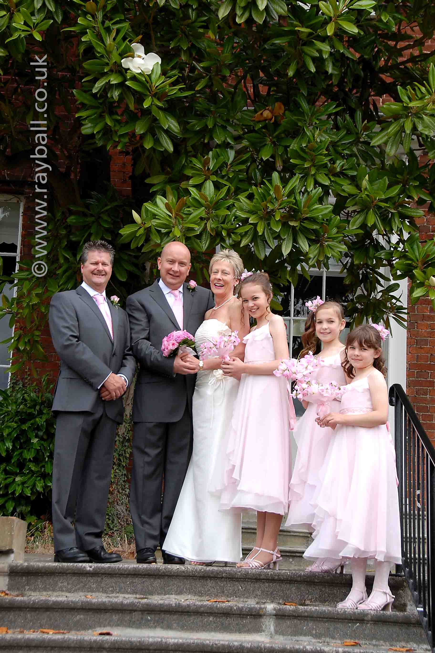 Wedding party at Leatherhead Registry Office.