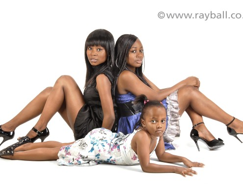 Three sisters from Ewell in Epsom Photography studio