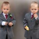 Twin pageboys at wedding Chessington by Epsom Photography.