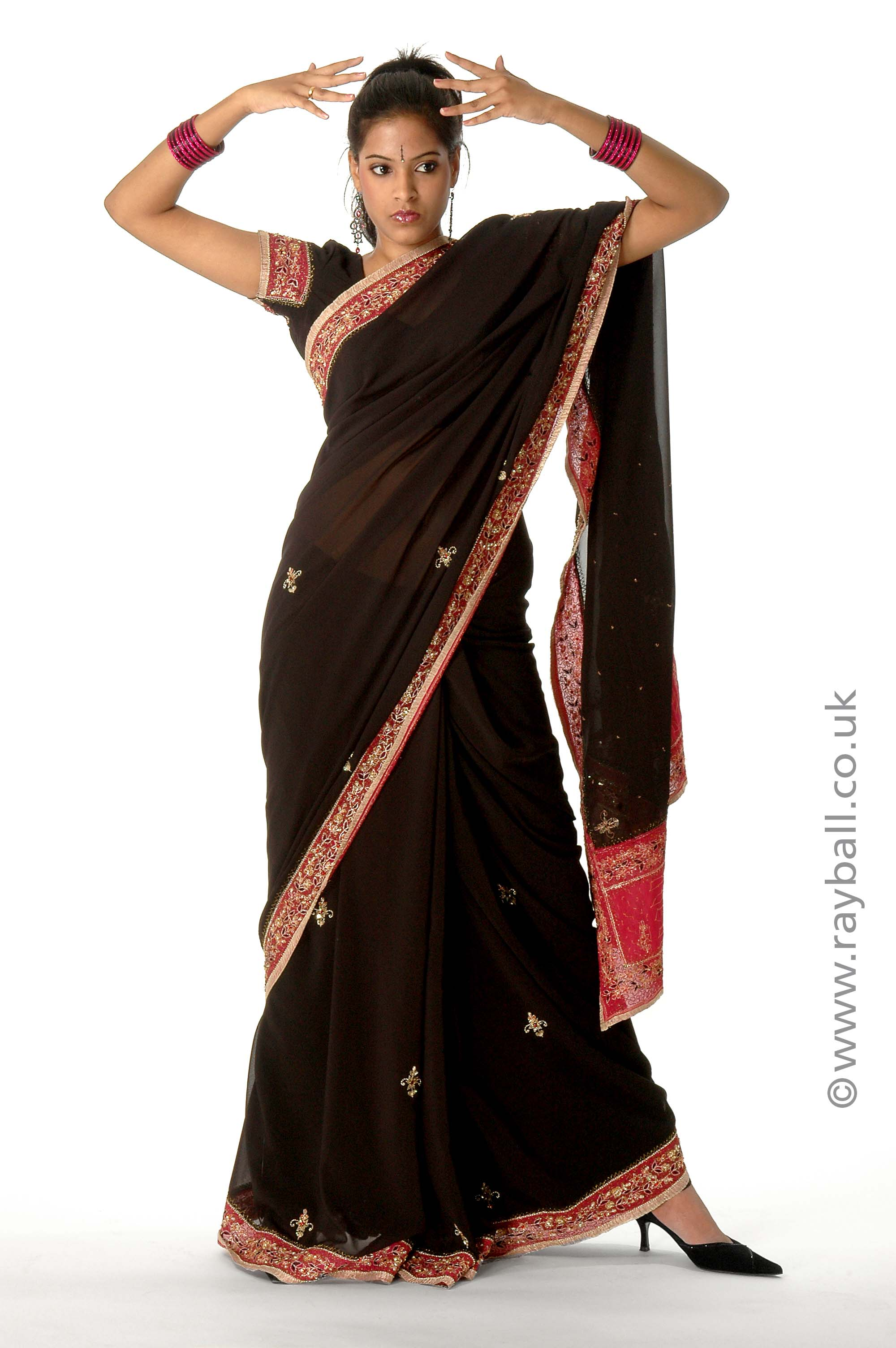 Tadworth model in sari at Epsom Photography Studio KT18.
