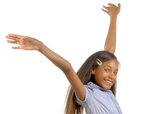 Happy young girl Stoke D'Abenon