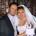 Bride, Groom and Wedding Cake Chessington.
