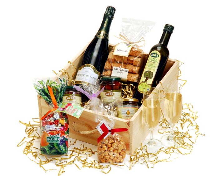 Christmas hamper for Leatherhead company taken at Epsom Photography Studio Surrey.