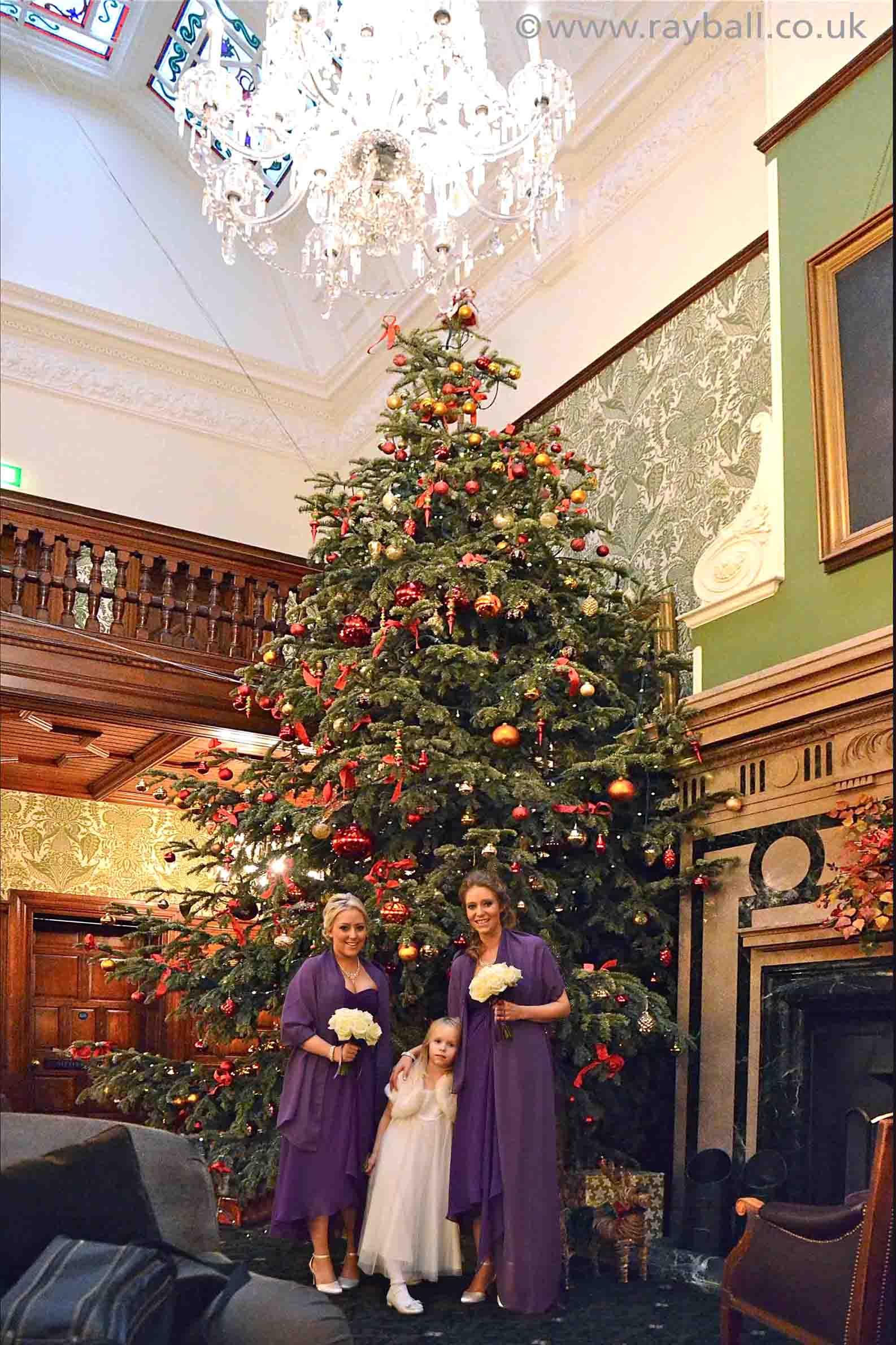 Christmas bridesmaids, Stoke D'Abernon, Horsham by Epsom Photography, Surrey.