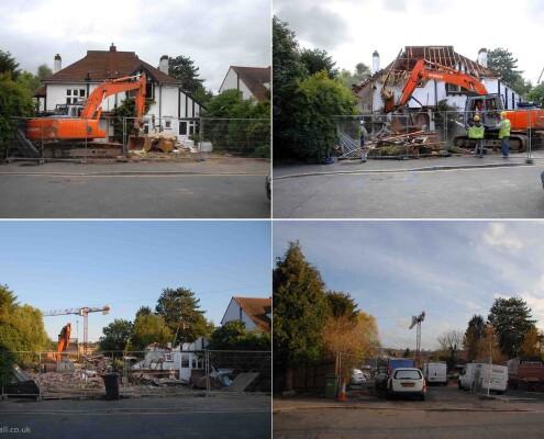 Banstead demolition in Stoneleigh