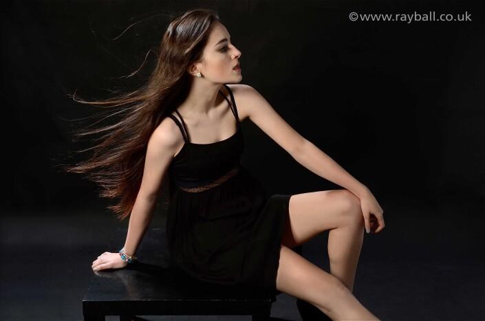 Cheam fashion model at Epsom Photography Studio Surrey