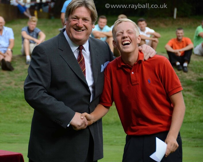 Event photography of young Cheam golfer by Epsom Photographer Ray Ball