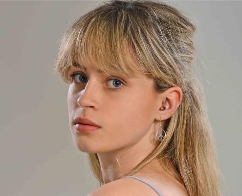 Portrait photograph of blond Banstead girl