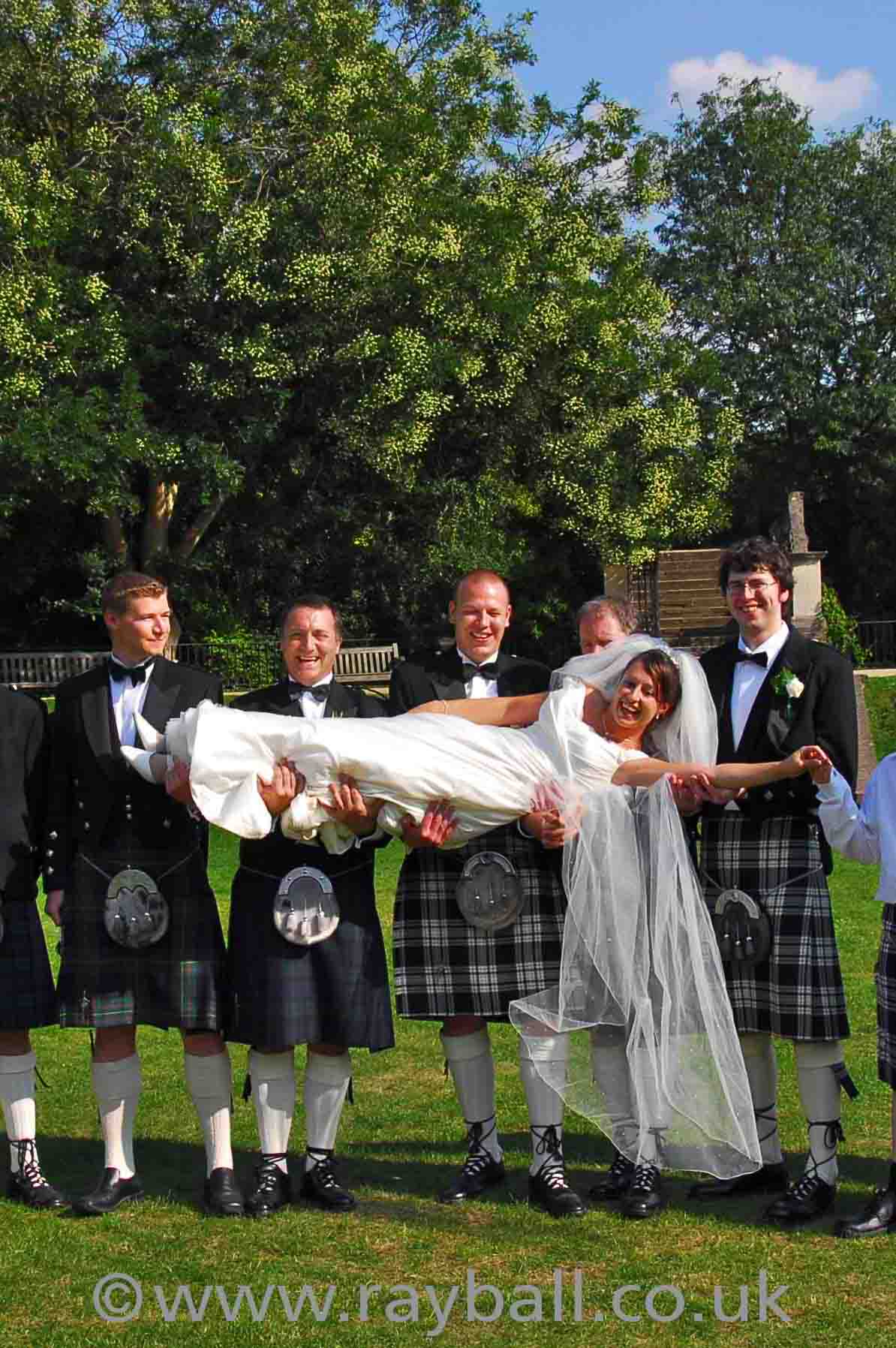 Banstead wedding photograph with Scottish theme