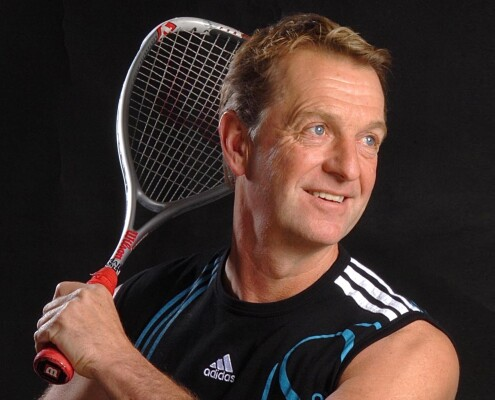 Claygate sportsman with racket