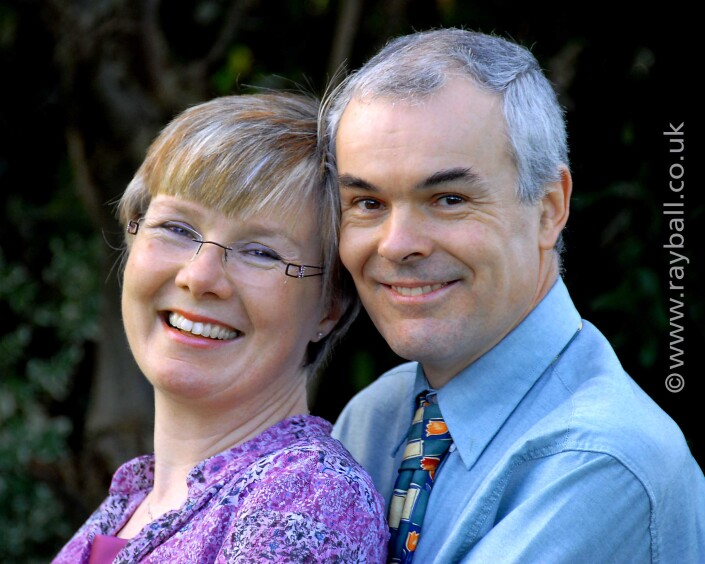 Smiling couple from Cheam in Claygate Surrey by Epsom Photography