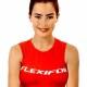 Cheam girl modelling Flexifoil Leatherhead vest top