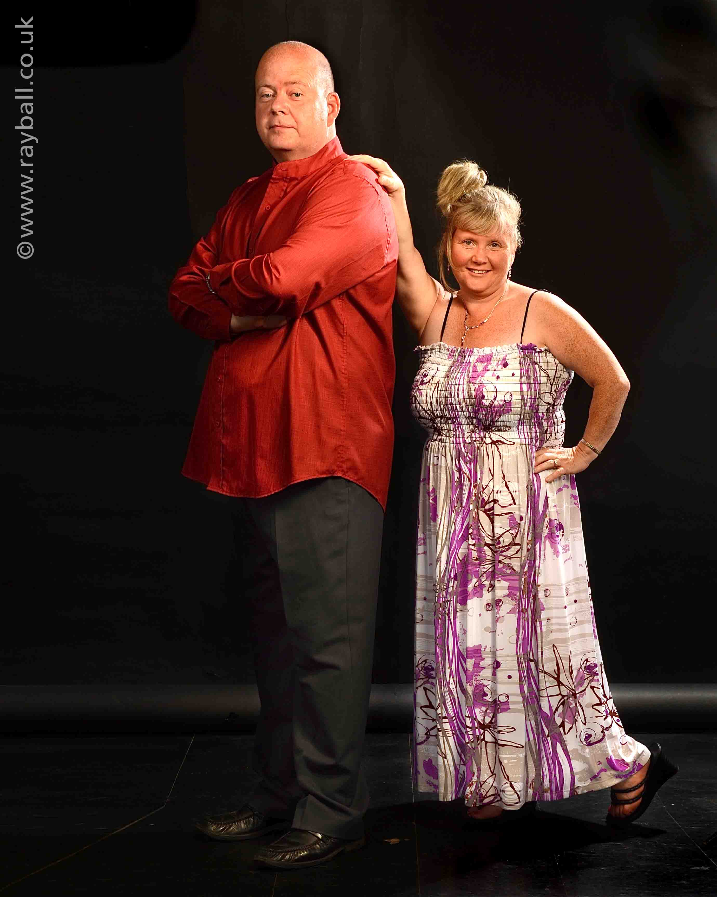 Worcester Park couple having fun posing at Epsom Photography Studio