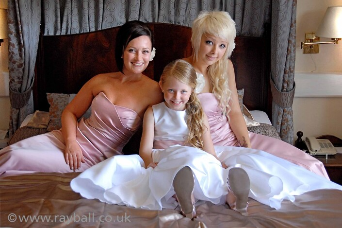 Bridesmaids in Sutton hotel
