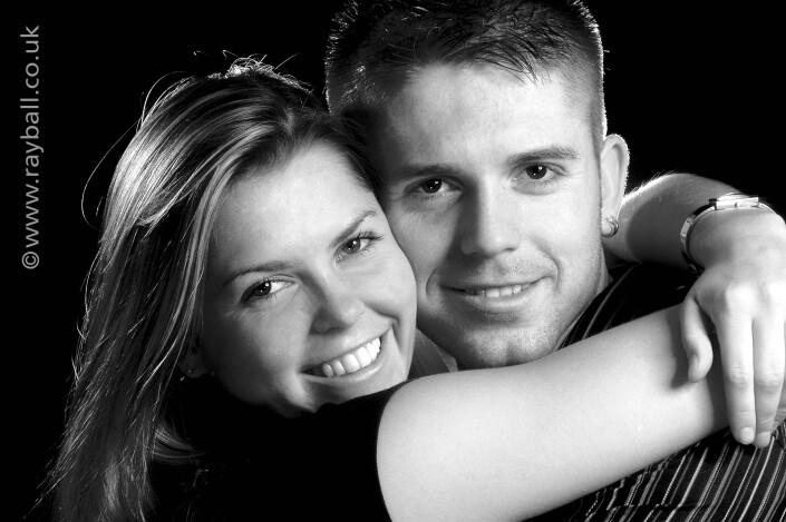 Intamate portrait of Sutton couple at Epsom Photography Studio Surrey.