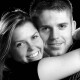 Intamate portrait of Sutton couple at Epsom Photography Studio Surrey.