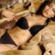 Worcester park girl in fur coat modelling underwear from Sutton