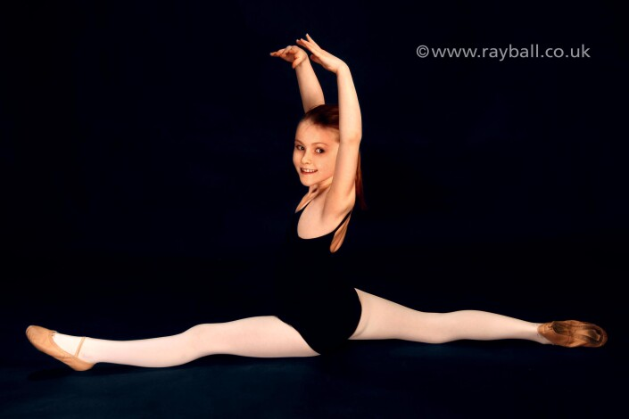 Young girl dancer from Worcester Park at Epsom Photography Studio Surrey