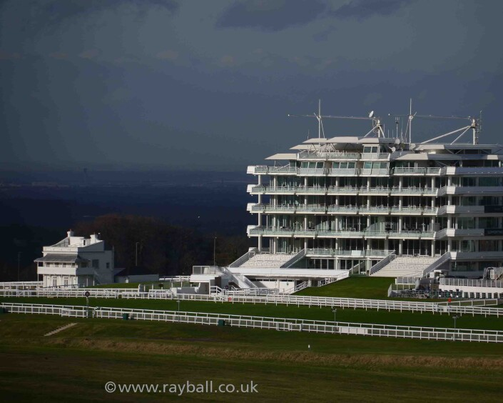 View of Epsom's Queen's Stand looking twards Chessington,Kingstom