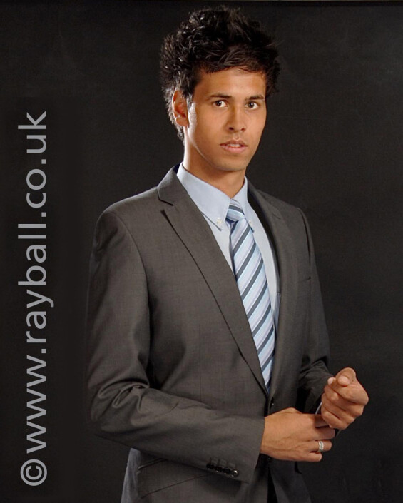 Tolworth male portfolio shot at Epsom Photography Studio Surrey.