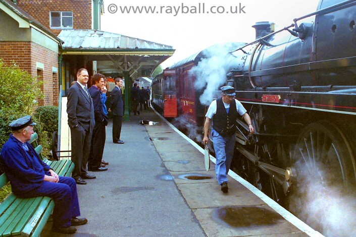 Picture from Worcester Park company outing on the Bluebell Raiway in Sussex.
