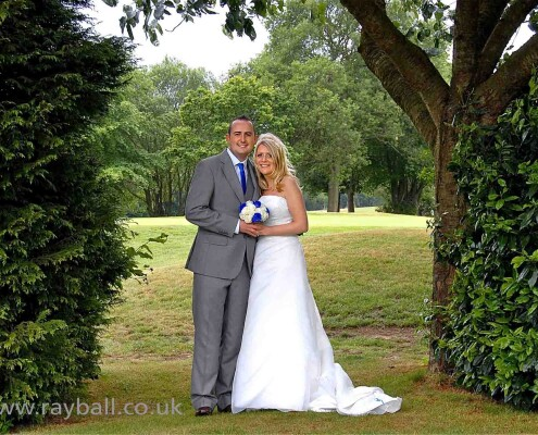 Esher bride and groom at Kingswood Golf & Country Club, Tadworth, Surrey.