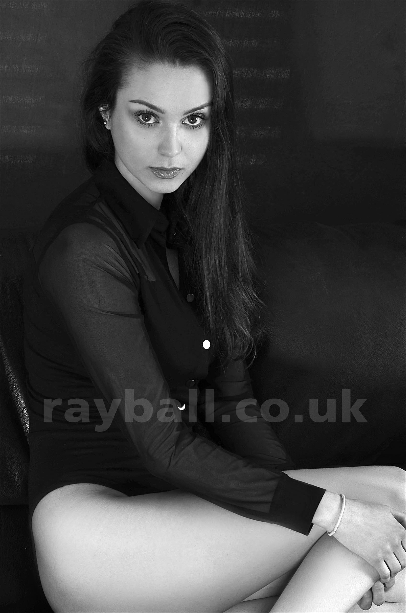 Seated model from Esher at Epsom Photography Studio