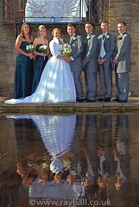 Wedding party at The Grange, Beddington Park, Wallington, Sutton.