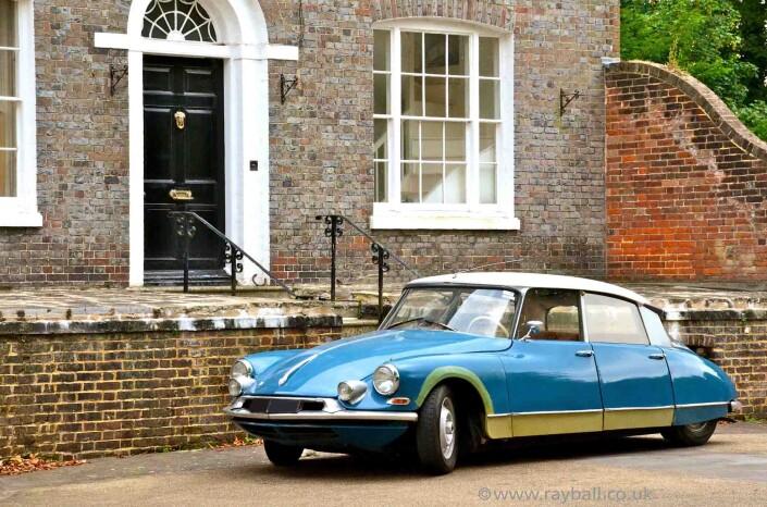 Classic Citroën parked in Worcester Park, London.