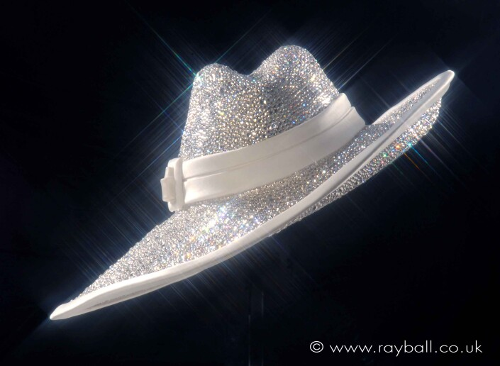 Ladies stylish silver trilby by Sutton milliner