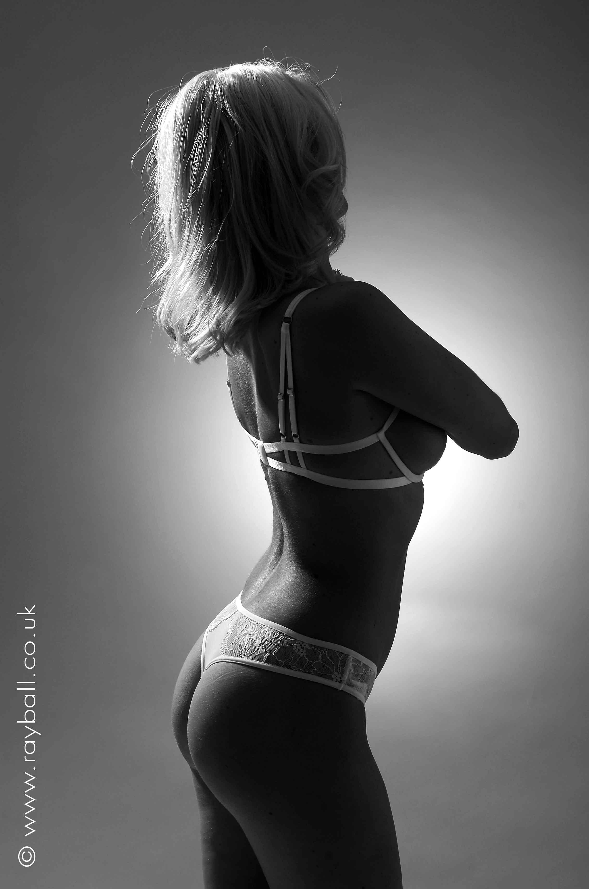 Studio shot of Esher underwear on model from Worcester Park - Epsom Photography Studio Surrey.